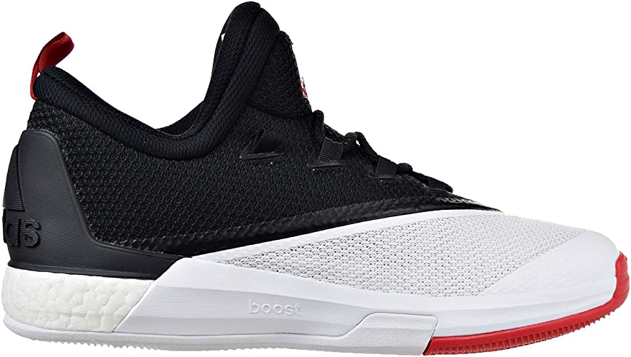 ADIDAS CRAZYLIGHT BOOST Low 2016 Black Red White James