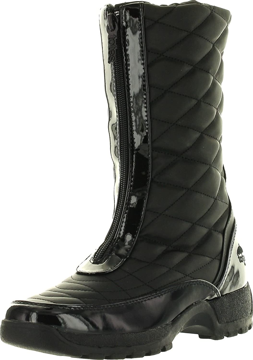 Totes Womens Diamond Winter Cold Weather Boots Wide Width