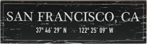 "Barnyard Designs San Francisco, CA City Sign Rustic Vintage Wood Wall Art Home Decor 17"" x 5"""