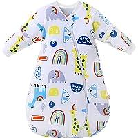 Saco de Dormir para bebé Mangas largas Invierno 2.5-3.5Tog Saco de Dormir de algodón 100% orgánico