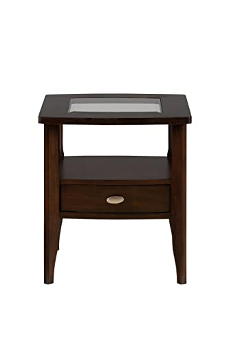 Jofran , Montego, Square End Table, 22 W X 22 D X 24 H, Merlot Finish, Set of 1