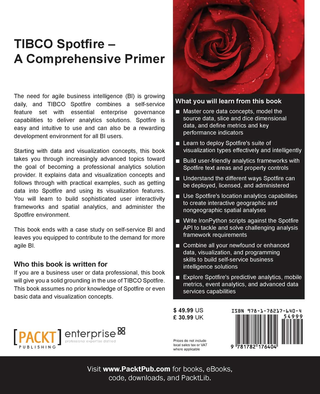 Amazon com: TIBCO Spotfire: A Comprehensive Primer (9781782176404