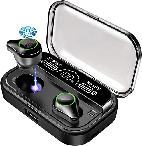 True Wireless Earbuds, BuLife Bluetooth 5.0 Stereo Earphones,Top Waterproof Noise Cancelling,Smart TWS in-Ear Buds with 3000mAH Charging Case