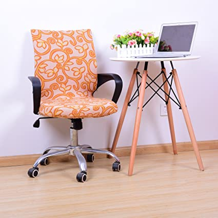 Astounding Yiwant Stretch Removable Washable Office Chair Cover Protector Seat Slipcover For Low Back Computer Chair Swivel Chair Adjustable Chair Desk Machost Co Dining Chair Design Ideas Machostcouk