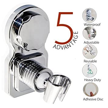 Vacuum Suction Cup Shower Head Holder Shower Head Stand Shower Head Bracket  Shower Head Mount Wall