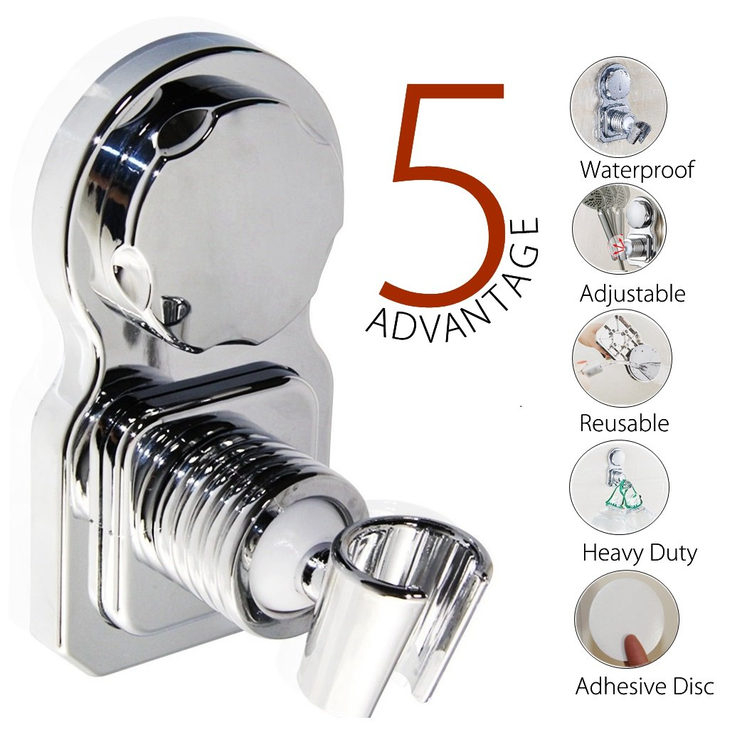 Vacuum Suction Cup Shower Head Holder Shower Head Stand Shower Head ...
