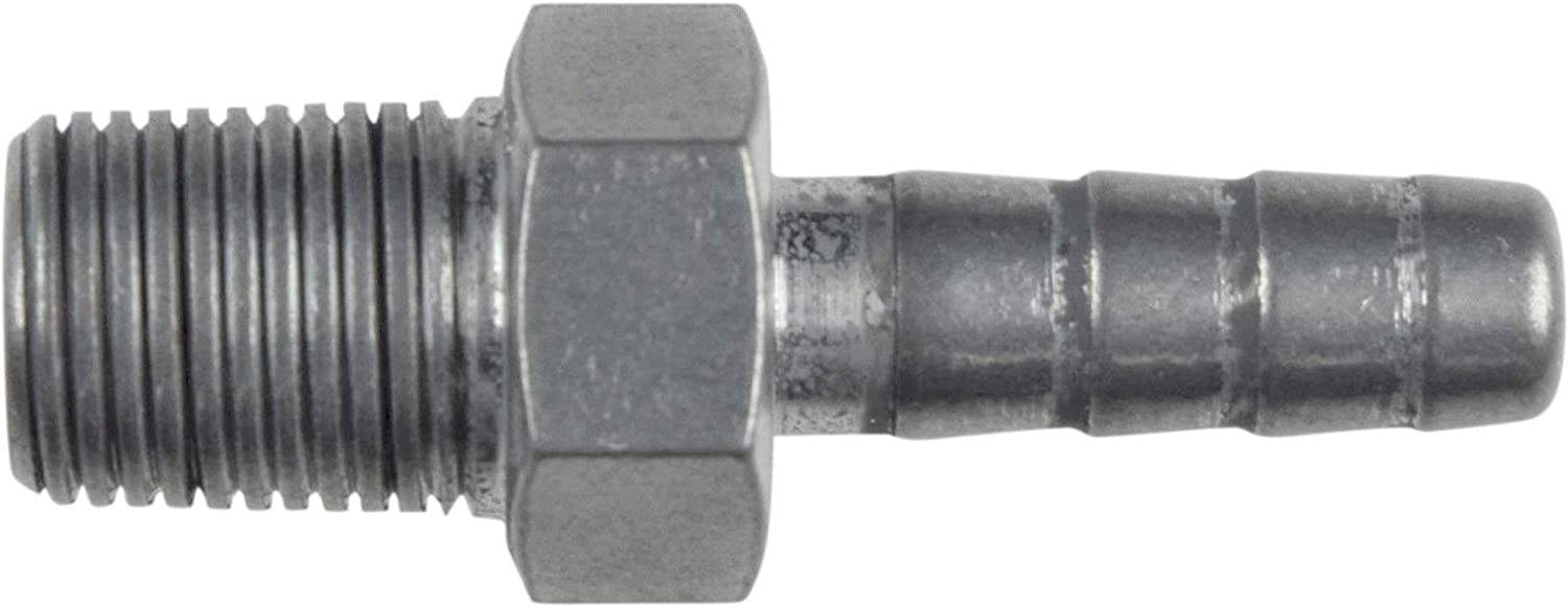 """ICT Billet Straight 1/8"""" NPT Pipe to 1/4"""" .250"""" Hose Barb Fitting Bare Aluminum AN840-04-02A"""