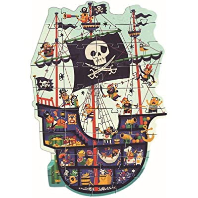 DJECO The Pirate Ship Giant Floor Jigsaw Puzzle: Toys & Games [5Bkhe0502655]