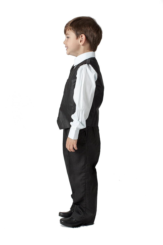 Romario Boys 4-Piece Pinstripe Wedding Suit 0//3M to 8 Years