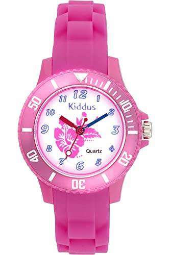 KIDDUS Reloj Niña Sport Analógico Cuarzo Japonés Correa Silicona. KI10107: Amazon.es: Relojes