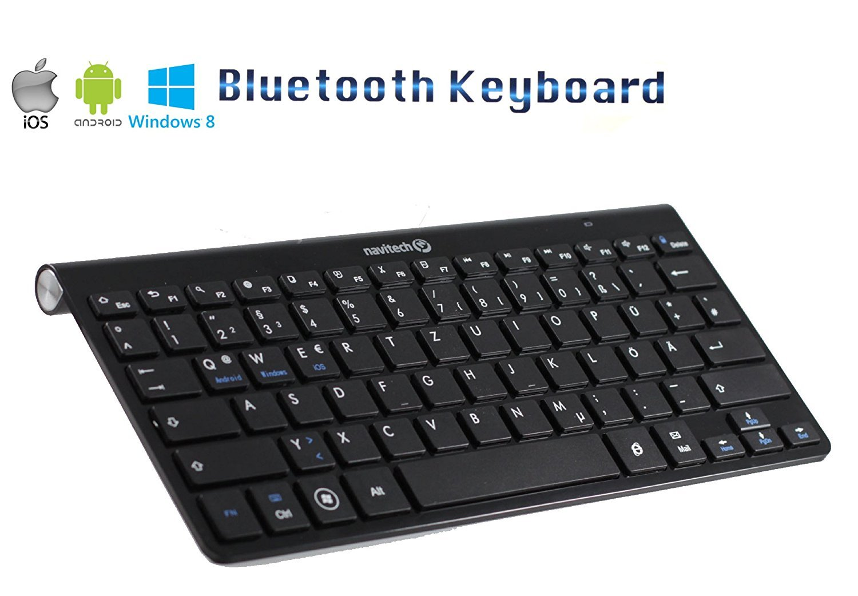 Navitech QWERTZ Bluetooth-Tastatur kompatibel mit dem/Samsung Galaxy Tab Pro 12.2 Sony Vaio Duo Slider 11 Samsung Galaxy Note Pro 12.2 Sony Vaio Flip 11A