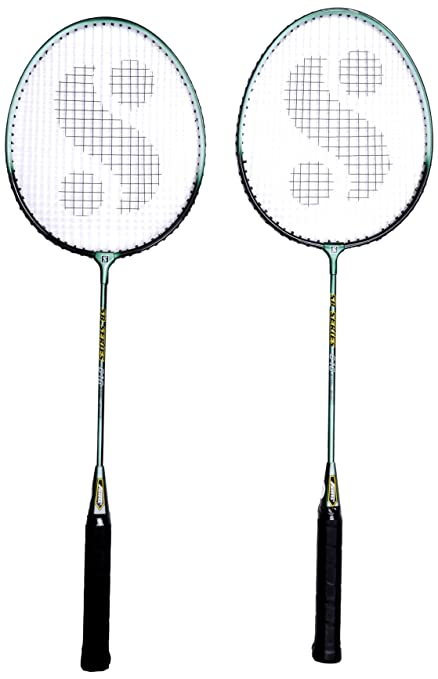 ed325107f4e82 Buy Silver s Sb-616 Gutted Badminton Set Online at Low Prices in ...
