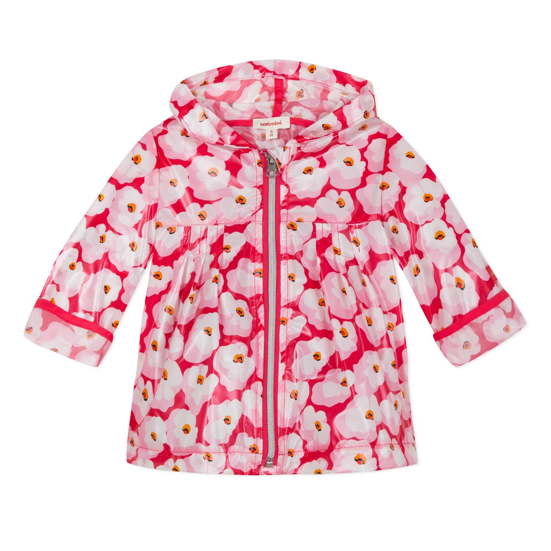 Catimini Pink Cherry Blossom Raincaoat for Baby/Girl (12M) by Catimini