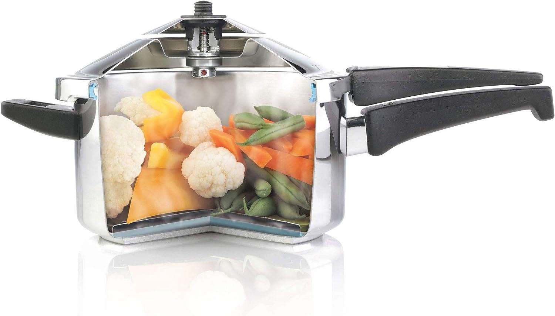 KUHN RIKON, Olla a presión super rápida con mango DUROMATIC Inox, 5 Litros, 22 cm: 125.65: Amazon.es: Hogar
