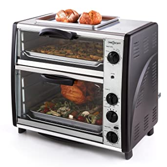 oneConcept All-You-Can-Eat Horno eléctrico doble - 2 cámaras de ...