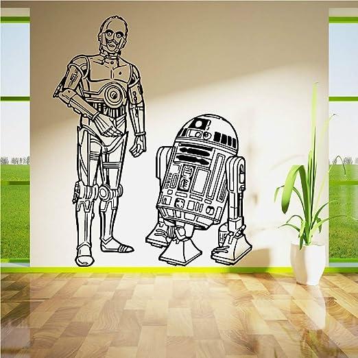pegatina de pared Star Wars R2D2 y C3Po Droids Duo Set Vinilo Arte ...