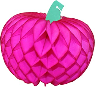product image for 10 Inch Tissue Paper Pumpkin Decoration, Cerise