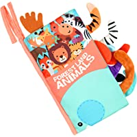 Vicloon Książka materiałowa dla niemowląt, bezpieczne nietoksyczne miękkie książki dla niemowląt, zwierzęta 3D książka…