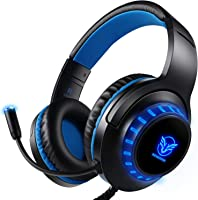 Pacrate Gaming Headset for PS4 PC Xbox One Headset with Microphone Noice Cancelling Stereo Surround Sound Headphone with...