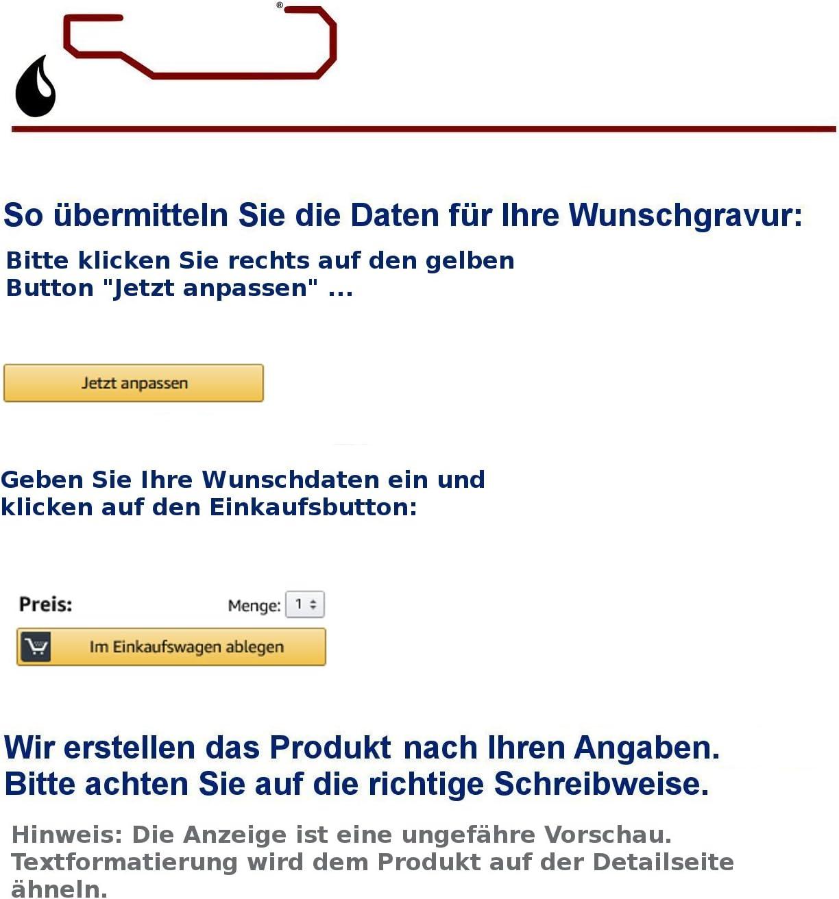 Feiner-Tropfen Hausnummer 30x20cm gro/ß anthrazit Schiefer Gravur Katze Schiefertafel