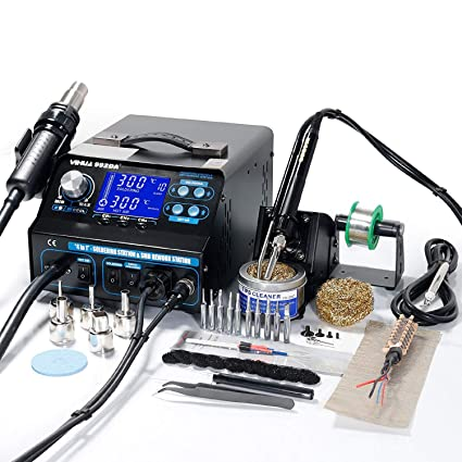 <b>yihua 992da+</b> 4 in 1 hot air rework soldering iron station fume