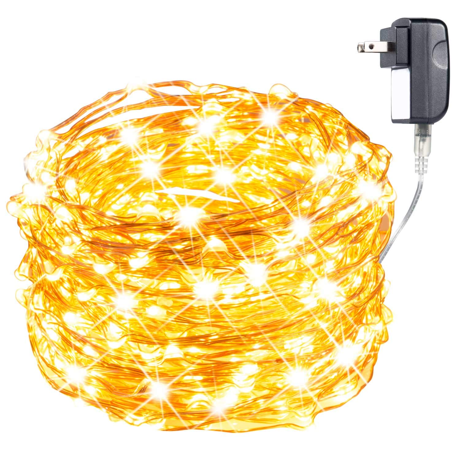 Amazon.com: Starry String Lights Warm White Color LED\'s on a ...