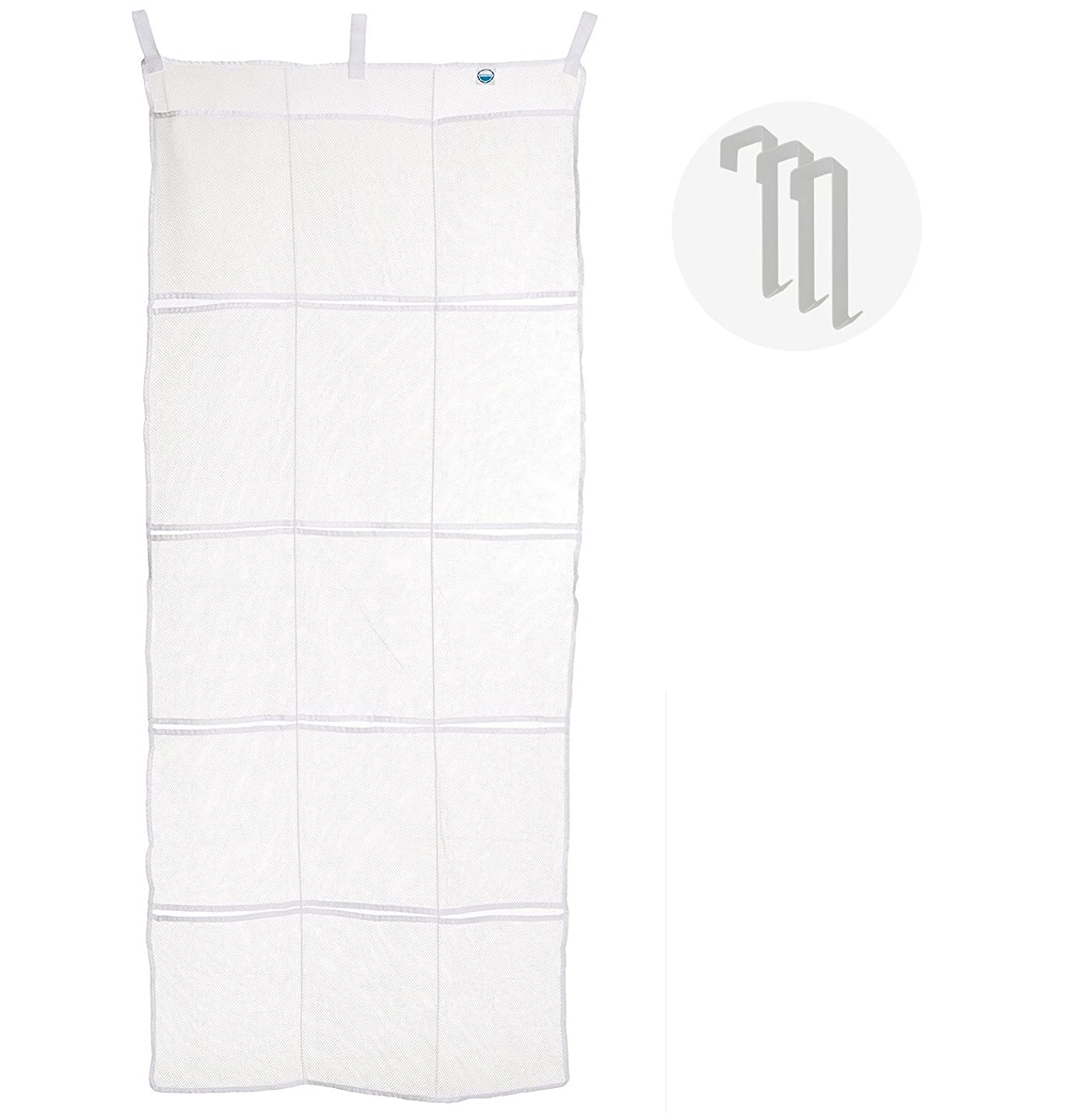 Cruise On Over The Door Organizer & Shoe Holder (Fire Retardant | White Mesh) 15 Pocket FBA_B01HH6NLQ4
