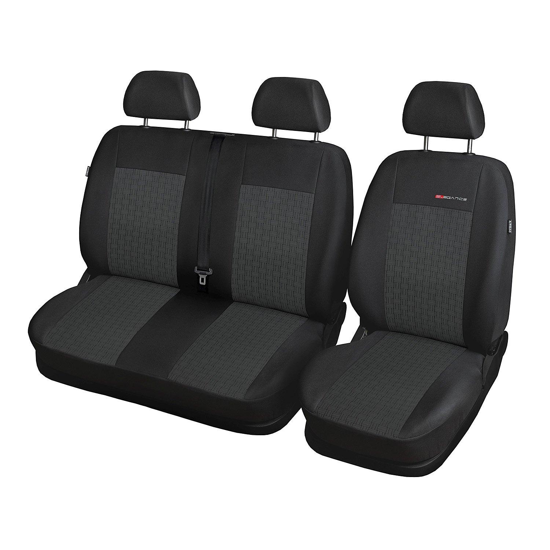 GSC Sitzbez/üge Komplettset Front 1+2-Sitze nach Mass Autositzbezug kompatibel mit Volkswagen T-5 Bus ab 03 1+2 Front kompatibel mit Elegance