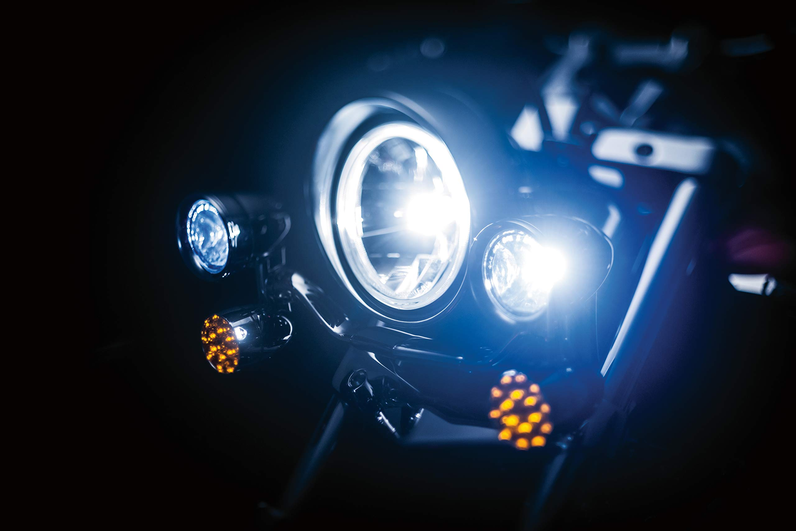 Kuryakyn 5001 Motorcycle Lighting Accessory: Constellation Driving Light Bar with Turn Signal/Blinker Lights, Chrome by Kuryakyn