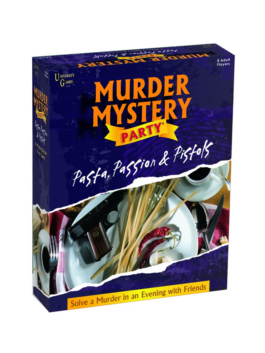 Murder Mystery Party Games - Pasta, Passion & Pistols, Host Your Own Italian Restaurant Murder Mystery Dinner for 8 Adult Players, Solve the Case with ...