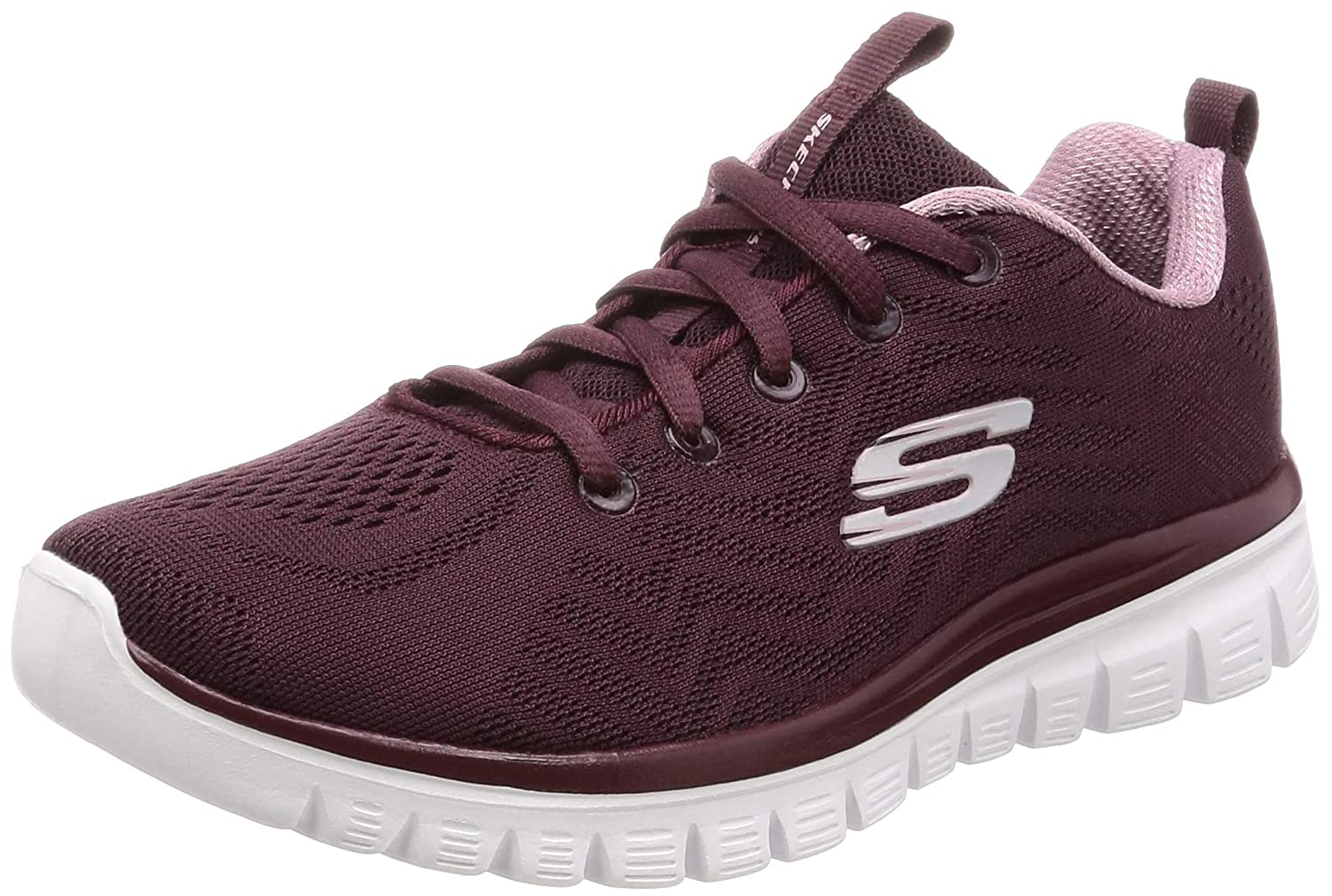 SKECHERS 12615 Wine Graceful Get Connected Mujer