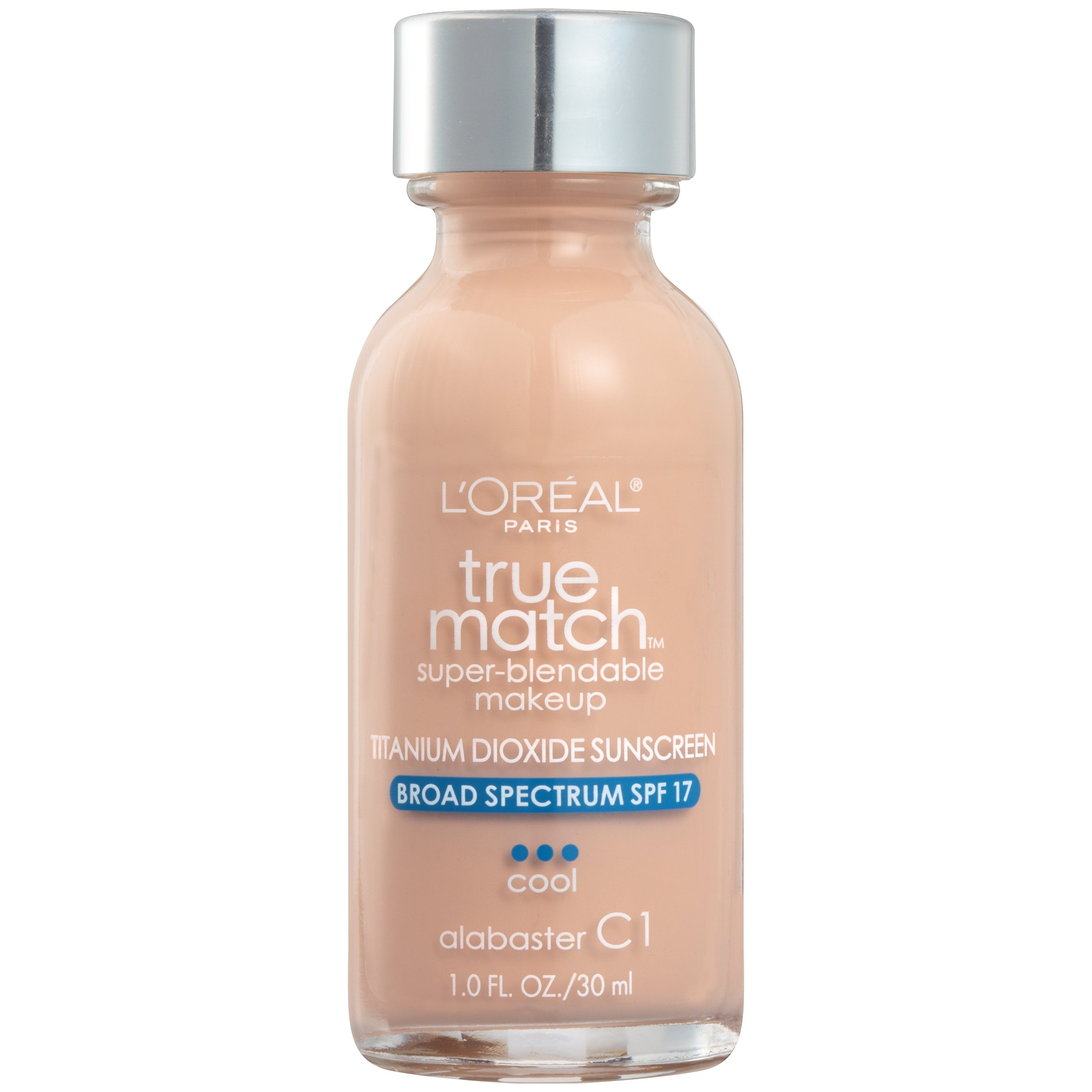 L'Oréal Paris True Match Super-Blendable Foundation Makeup, Alabaster, 1 fl. oz.