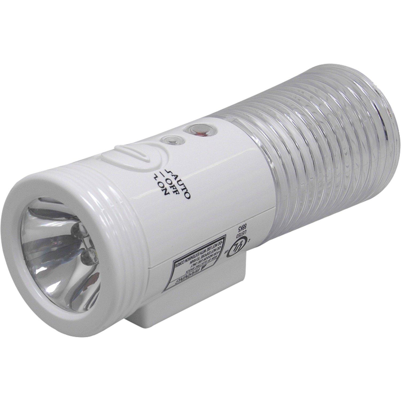 GE 3-in-1 LED Power Failure Night Light, Plug-In, Rechargeable, Light Sensing, Auto On/Off, Foldable Plug, Soft White, Emergency Flashlight, Hurricane, Storm, Tornado, Glossy White Finish, 11096
