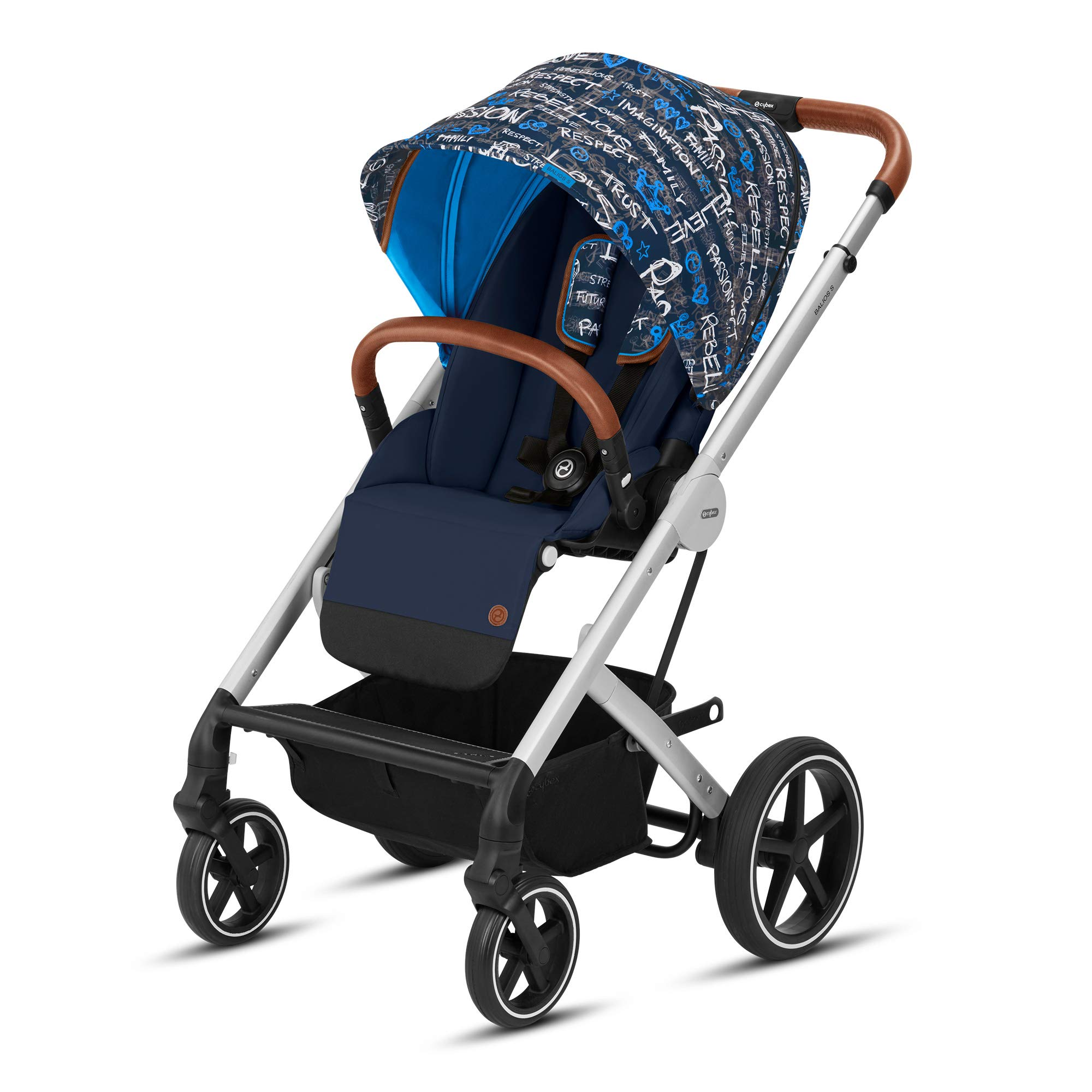 Cybex Balios S Convertible Baby Stroller with Sun Canopy, Trust Blue
