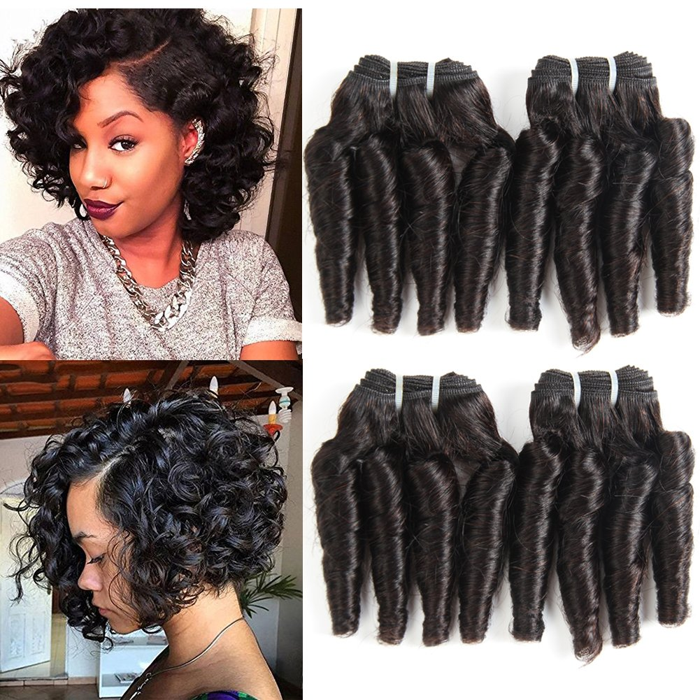 Amazon Brazilian Human Hair Weave Remy Curly 4 Bundles Virgin