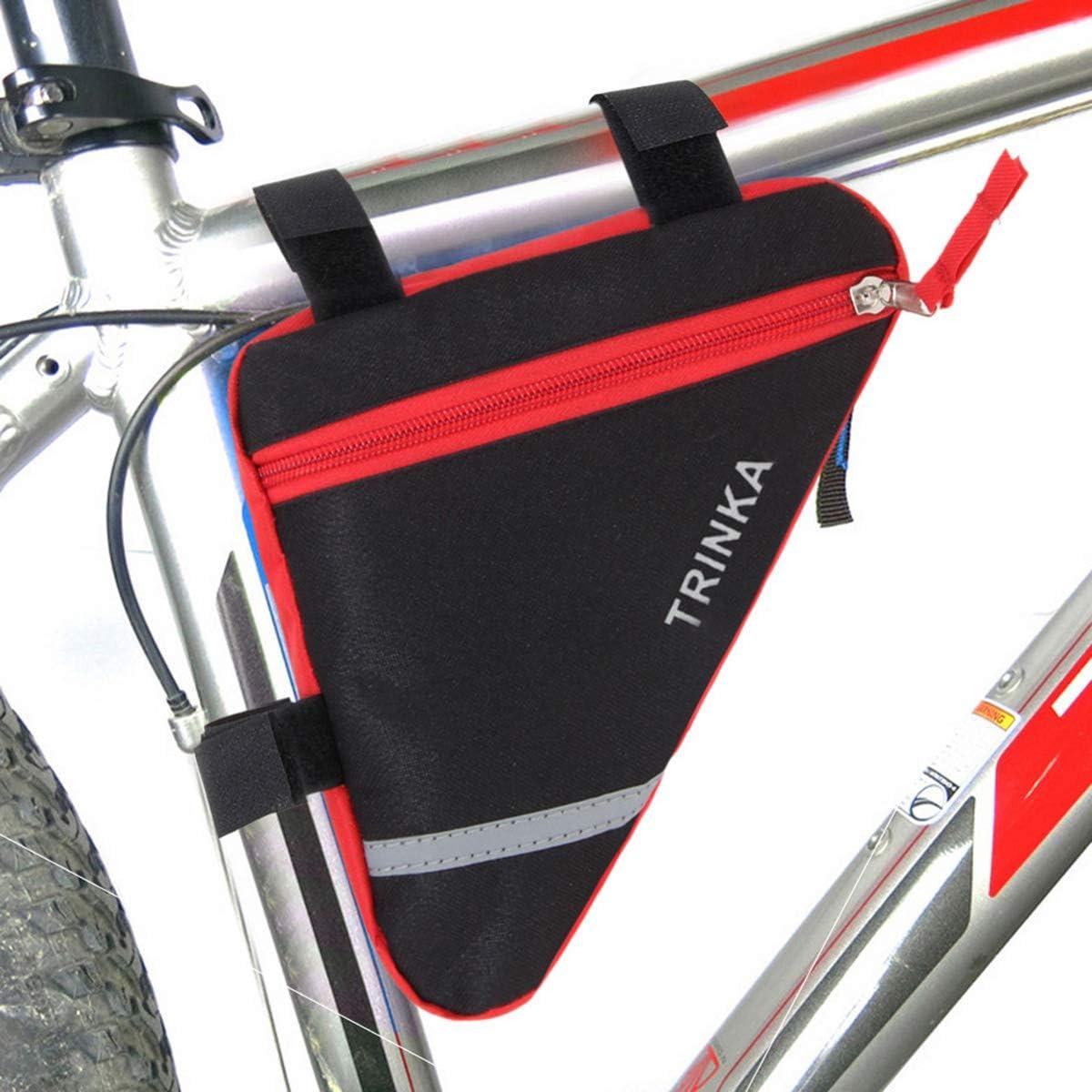 LIOOBO Ciclismo Manillar Bolsas Bicicleta Tubo Superior Bolsa Tri/ángulo Carretera Bicicleta Bastidor Delantero Bolsa Bicicleta de monta/ña Accesorios Rojo