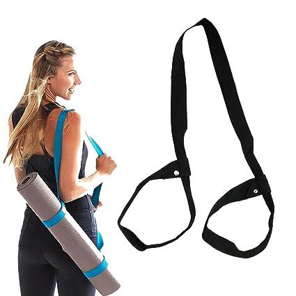 JJunLiM Yoga Mat Correa, Portador de algodón Yoga Mat Sling Correa cinturón Ajustable Antideslizante para Esterilla de Yoga Pilates Ejercicios Fitness ...