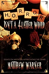 Horror Isn't a 4-Letter Word Paperback