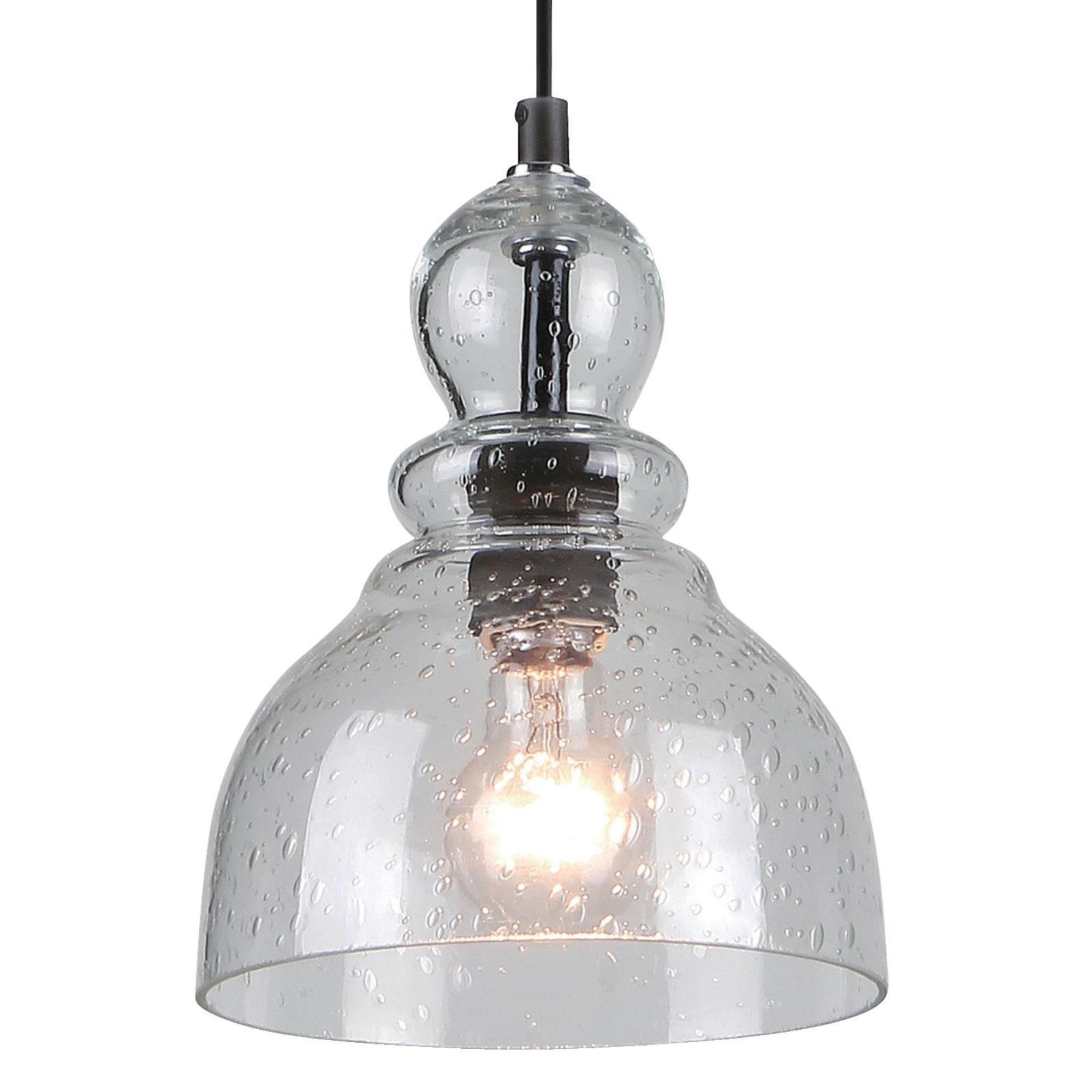Westinghouse 6100800 One-Light Indoor Mini Pendant, Oil Rubbed Bronze Finish with Clear Seeded Glass by Westinghouse Lighting (Image #3)