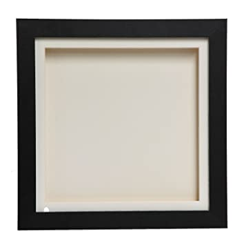 Cube Black 3D Deep Box Picture Frame Display Memory Box For Medals ...