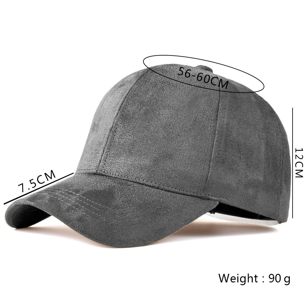 ff0046da61f LIXYIT Snapback Caps Faux Leather Suede Baseball Cap Women Adjustable  Casual Low Profile Dad Hat Men Black at Amazon Women s Clothing store
