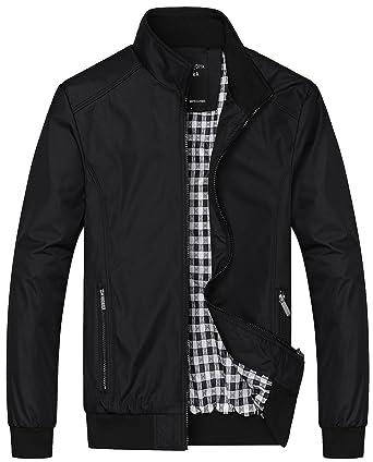 d8856e34d JIINN Mens Summer Autumn Casual Jackets Lightweight Slim Fit Bomber Jackets  Coats Classic Outerwear Windbreaker