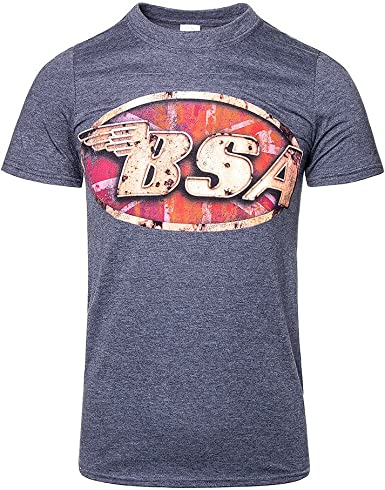 BSA MOTORCYCLE Classic Simple Logo Men/'s White T-Shirt Size S to 3XL