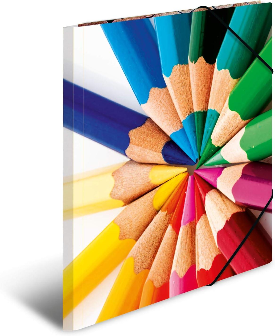 Herma Sael /à anneaux impressions DIN Carton MotifCrayons Format A3 1 pi/èce