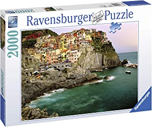 Ravensburger Cinque Terre, Italy 2000 Piece Jigsaw Puzzle for Adults – Softclick Technology Means Pieces Fit Together Perfectly