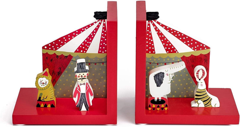 Mousehouse Gifts - Sujetalibros infantiles 3D - Madera - Temática circo