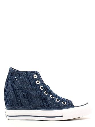 8c7ecbe3dc6e Converse Ct Lux Mid Scarpe Donna in Pizzo Crochet Blu 552696C - Blue ...