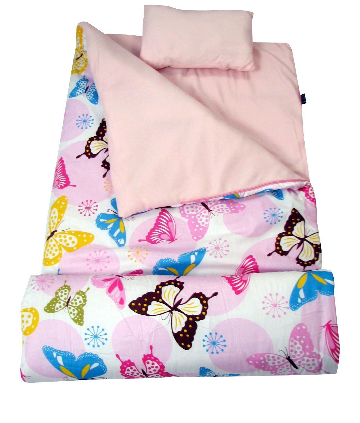 Soho Kidsコレクション、クラシックSleepingバッグ グリーン No-24 B016H6QCY8 Drifty Butterflies Drifty Butterflies