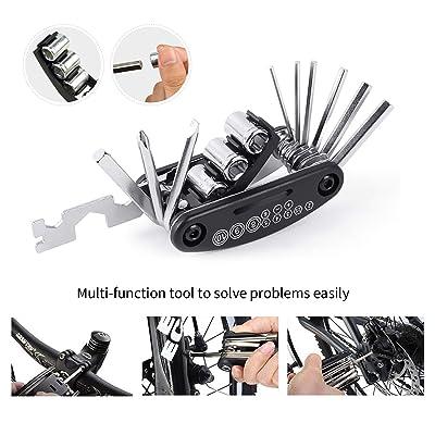 Bike Cycle MTB Bicycle Tool Puncture Repair Kit With Pump Set Carry Case Bag UK