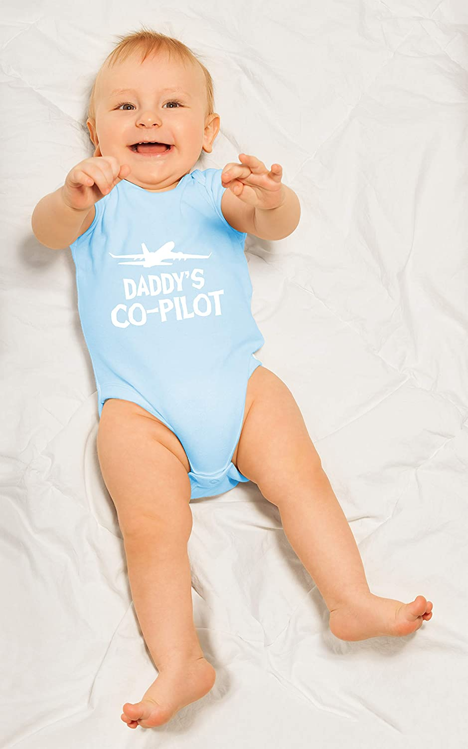 Funny Newborn Unisex Baby Cotton Bodysuit Infant One-Piece Romper Outfit Daddys Co-Pilot